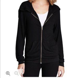 Wildfox basic track suit hoodie black XS
